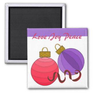 Love Joy Peace Square Magnet
