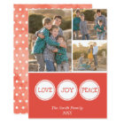 Love Joy Peace | Three Photo Christmas Card