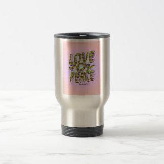 Love, Joy, Peace Travel Mug