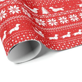 Love Joy Peace Wiener Dogs Christmas Pattern