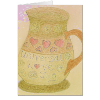 Love Jug Fun Art Greeting Card