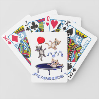 love jumping pussies bicycle playing cards