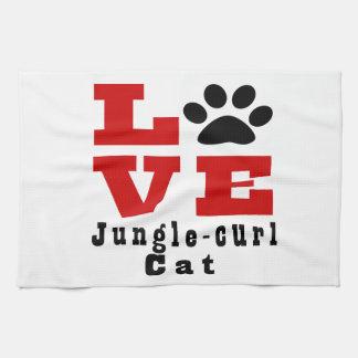 Love Jungle-curl Cat Designes Kitchen Towels