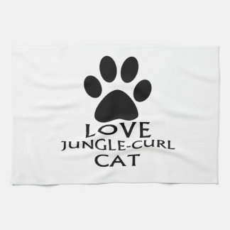 LOVE JUNGLE-CURL CAT DESIGNS KITCHEN TOWEL