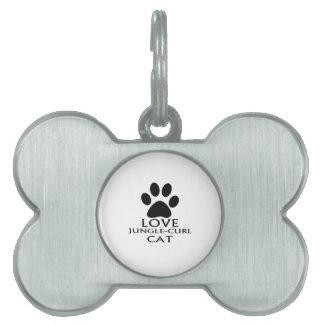 LOVE JUNGLE-CURL CAT DESIGNS PET ID TAG