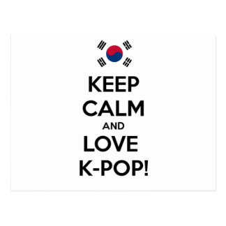 Love K-Pop! Postcard