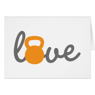 Love Kettlebell Orange Card