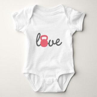 Love Kettlebell Pink Baby Bodysuit