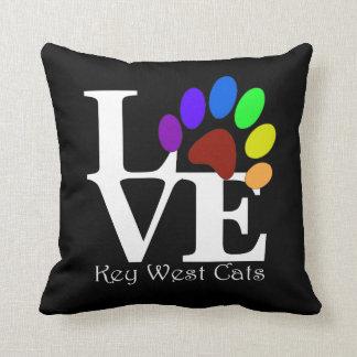 LOVE Key West Cats Pillow