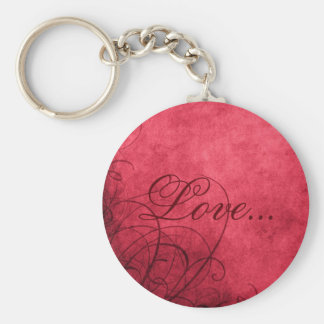Love- Keychain: Love's Twilight Collection Basic Round Button Keychain