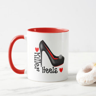 Love Killer Heels Girly Shoe Graphic Mug