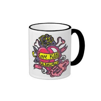 love kills ringer mug