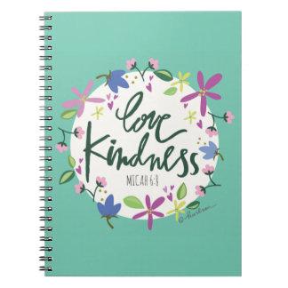 Love Kindness Spiral Notebook