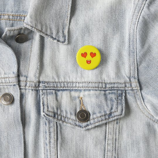 Love Kiss Heart Eyes Emoji 1 Inch Round Button