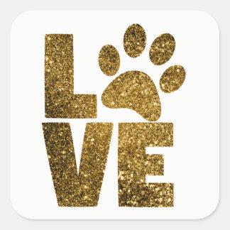 Love Kitty Square Sticker