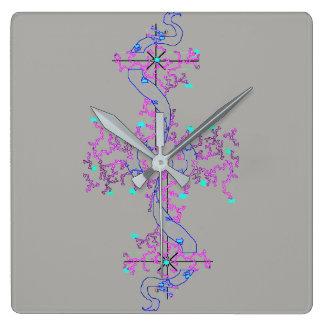Love Knot Design, Square Wall Clock