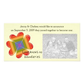 Love Knows No Boundaries Photo Greeting Card