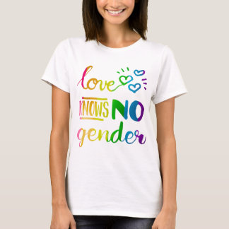Love Knows No Gender LGBT Pride Rainbow T-Shirt