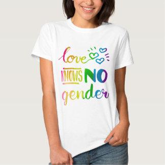 Love Knows No Gender LGBT Pride Rainbow Tshirt