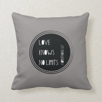 Love Knows No Limits Throw Pillow