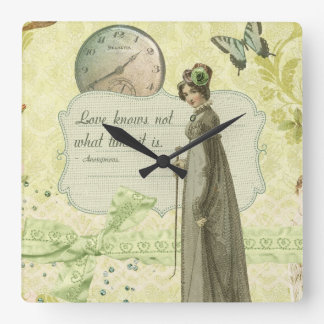 Love Knows no Time Square Wall Clock