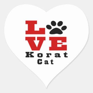 Love Korat Cat Designes Heart Sticker