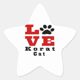 Love Korat Cat Designes Star Sticker