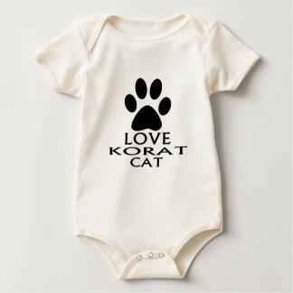 LOVE KORAT CAT DESIGNS BABY BODYSUIT