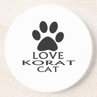LOVE KORAT CAT DESIGNS COASTER