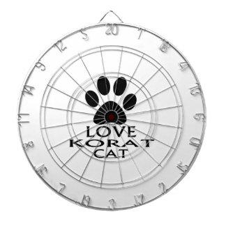 LOVE KORAT CAT DESIGNS DARTBOARD