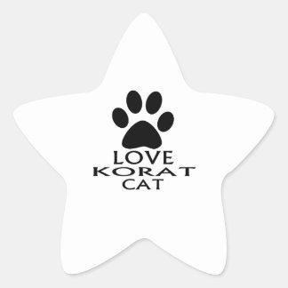 LOVE KORAT CAT DESIGNS STAR STICKER