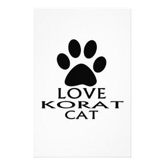 LOVE KORAT CAT DESIGNS STATIONERY