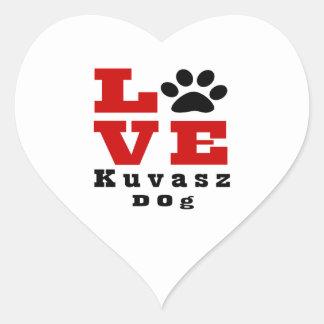 Love Kuvasz Dog Designes Heart Sticker