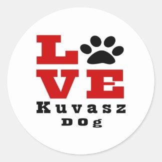 Love Kuvasz Dog Designes Round Sticker