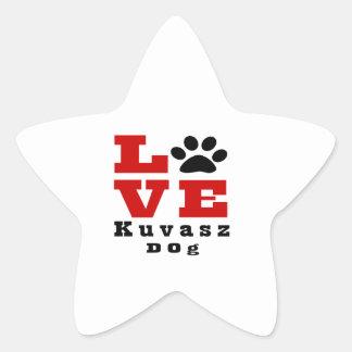 Love Kuvasz Dog Designes Star Sticker