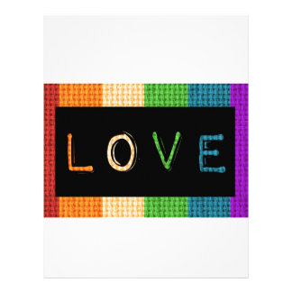 Love Label LBGT Pride and Ally Support Letterhead