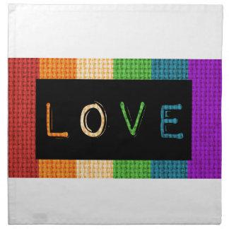 Love Label LBGT Pride and Ally Support Napkin