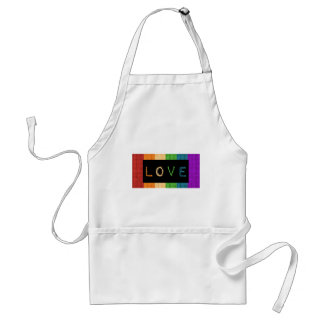 Love Label LBGT Pride and Ally Support Standard Apron