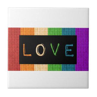 Love Label LBGT Pride and Ally Support Tile