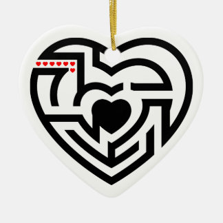 love labyrinth ceramic ornament