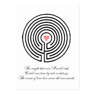 Love labyrinth - Valentine's Day Postcard