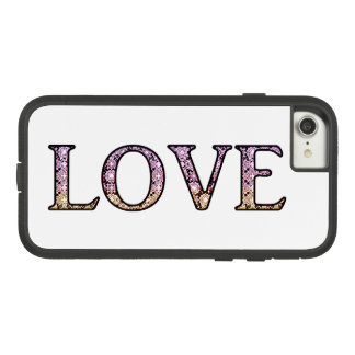 LOVE Lace pattern letters Case-Mate Tough Extreme iPhone 7 Case