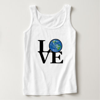 LOVE Ladies  Earth Ladies White Tank