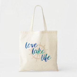 Love Lake Life Nautical Typography Watercolor Blue