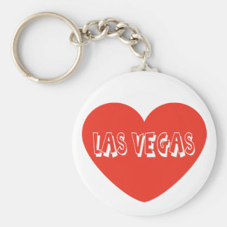 Love Las Vegas Nevada Red Heart Keychain