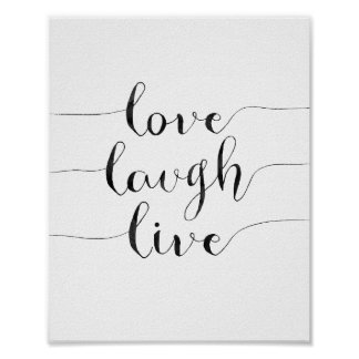 Love Laugh Live Poster