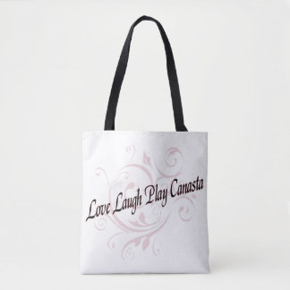 Love Laugh Play Canasta Tote Bag