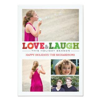 """Love + Laugh x4 5"""" X 7"""" Invitation Card"""