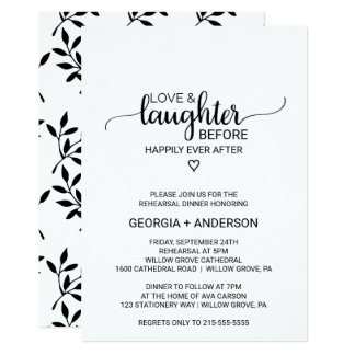 Love & Laughter Before Happily Ever After Card