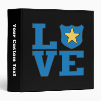 Love Law Enforcement 3 Ring Binders